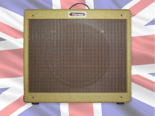 Harma Blues Junior 1 x 12 Aged Tweed replacement pine cabinet with Celestion Alnico Blue