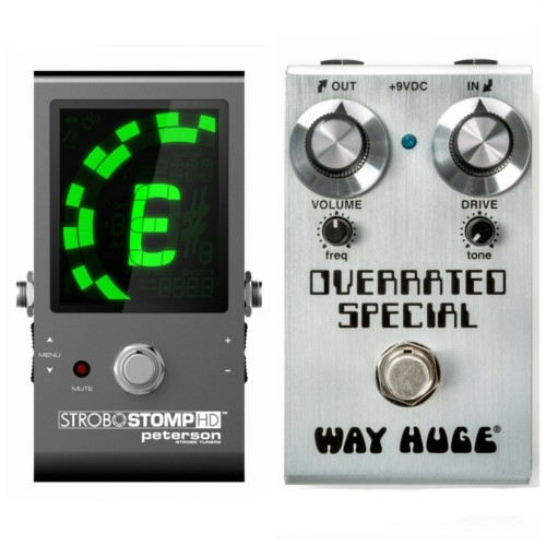 Way Huge Smalls Overrated Special OD+ Peterson Strobostomp HD Pedal Tuner