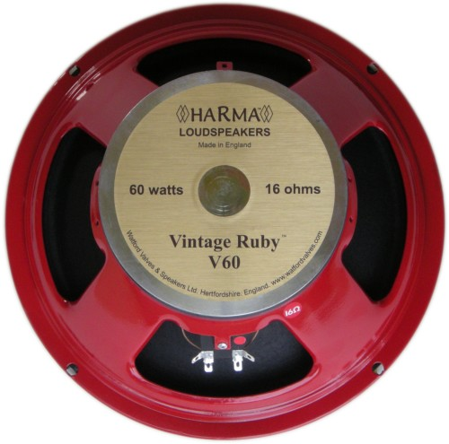 Harma Ceramic British Series Speakers / HARMA-G12-VINTAGE RUBY-60-16 OHM