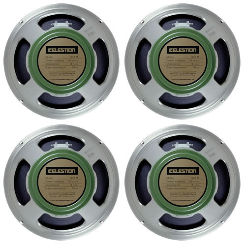 Celestion-G12-G12M Greenback-25-16 ohm 4 off
