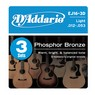 Daddario EJ16-3D 3 sets plus Free set of EXP Acoustic  Strings 12-53
