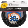 Daddario Planet Waves American Stage 20ft Instrument cable Straight Cryo+ 3 sets of Cryo EXL110 Free